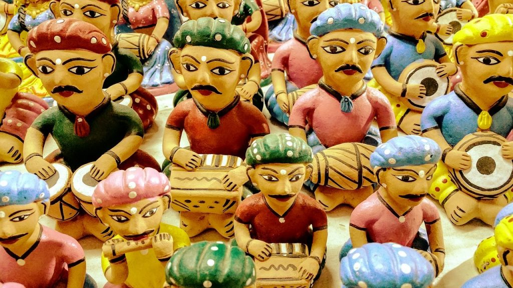 using dolls to depict Child Marriage