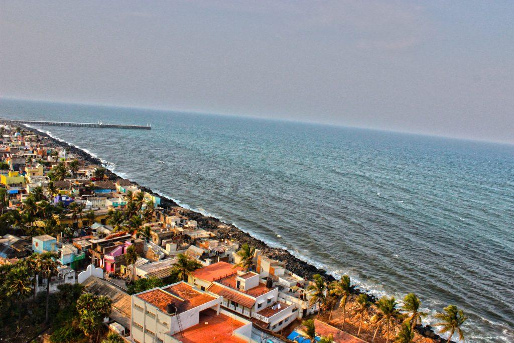 a beach in Pondicherry